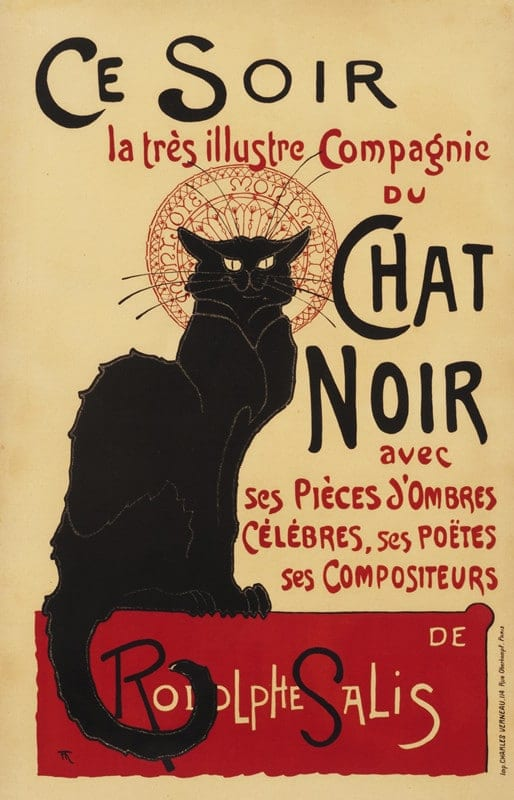 poster distribution chat noir